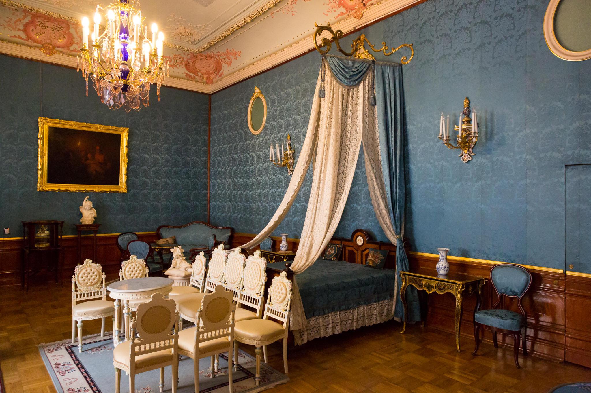 le palais Youssoupov la chambre a coucher