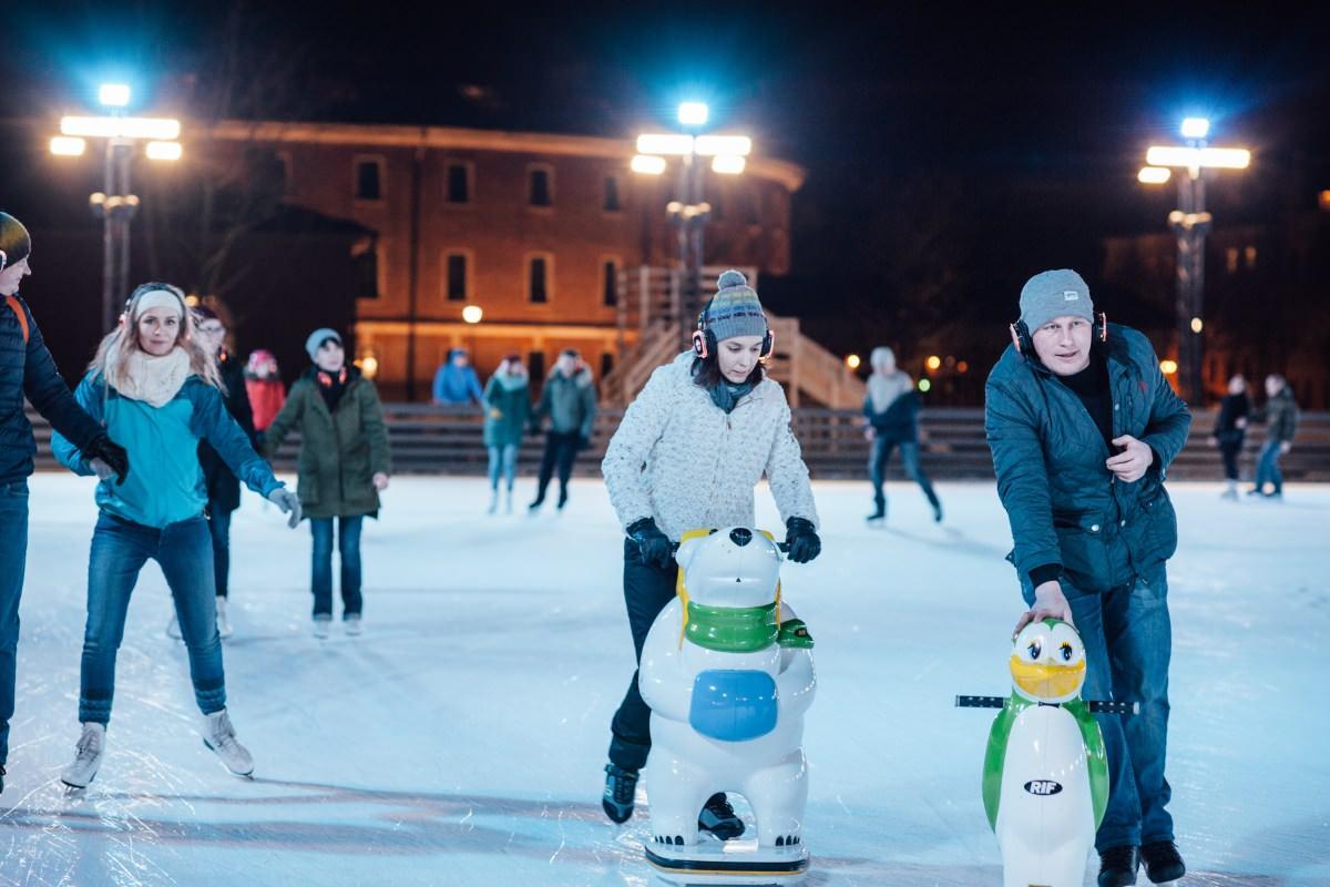 les promenades en hiver patinoire